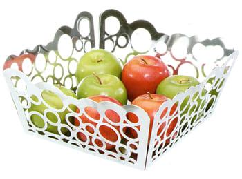 Bubble Square Metal Serving Fruit Bowl