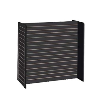 Black H-Shaped Slatwall Fixture