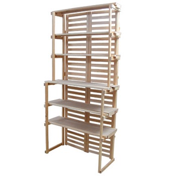 6-Shelf Wooden Retail Shelving Unit