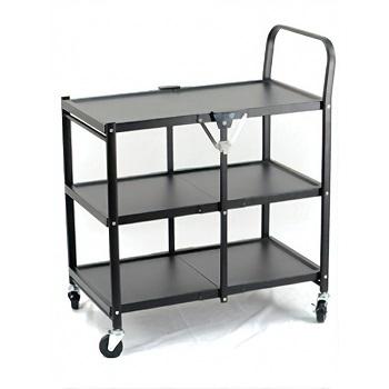 3 Tier Rolling Folding Kitchen Cart
