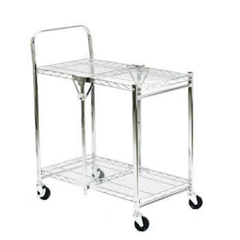 2 Tier Collapsible Wire Folding Trolley