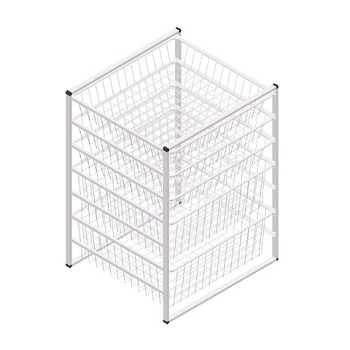 7 Tier Wire Mesh Storage Drawers