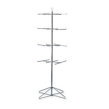 4 Tier Floor Spinner Rack w/24 Pegs