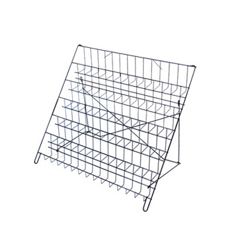 6-Tier Black Wire Countertop Rack