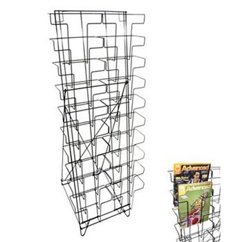 10 Tier Wire Floor Literature Stand