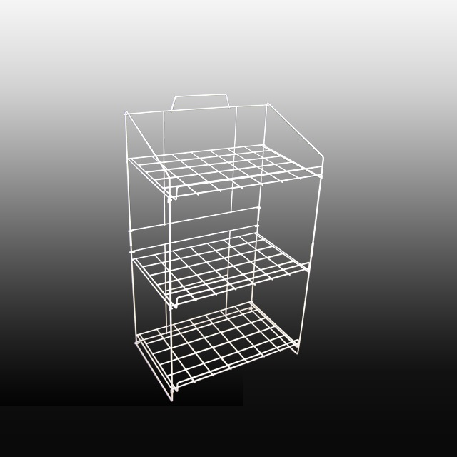 3 Tier Wire Floor Storage Display Stand