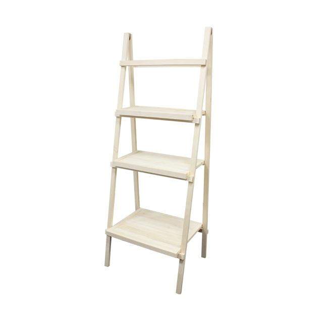 3 Tier Rustic Wooden Ladder Shelf