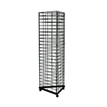 3 Sided Wire Slat Grid Panel Tower