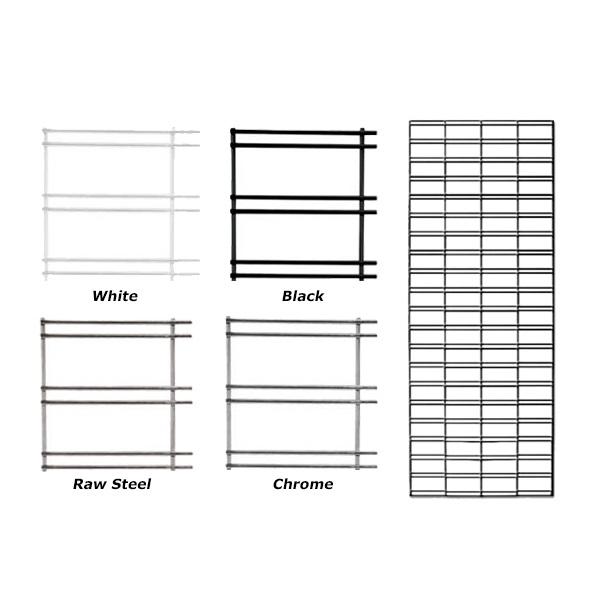 Metal Wire Slat Grid Panels