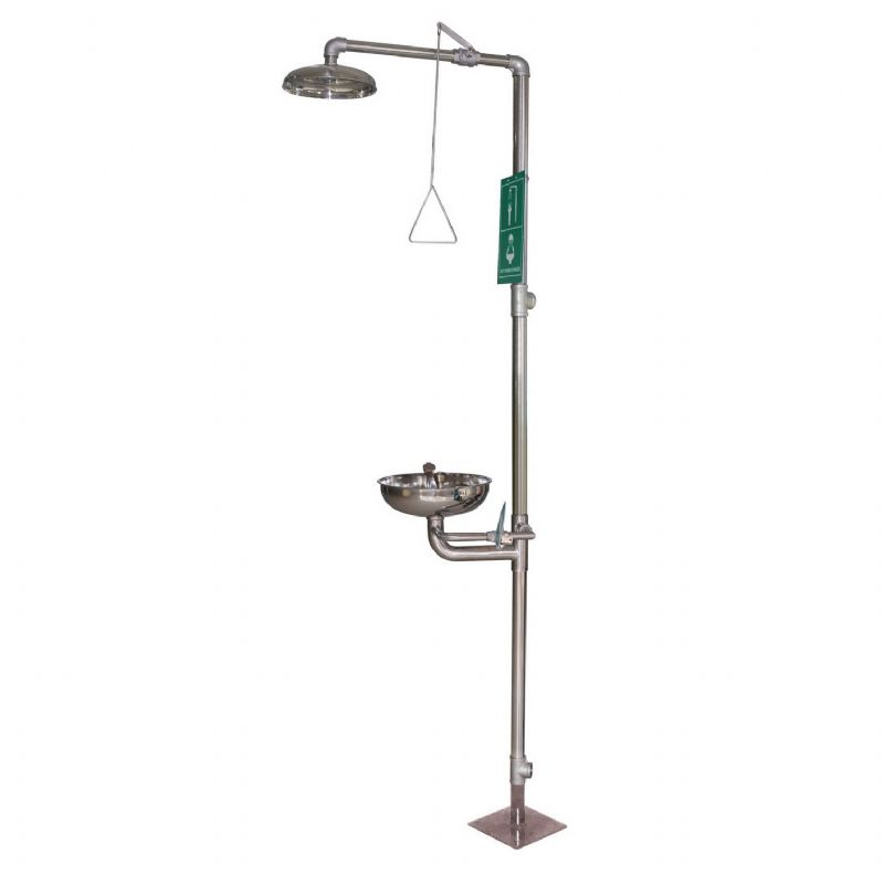 Combination Shower With Eye Wash