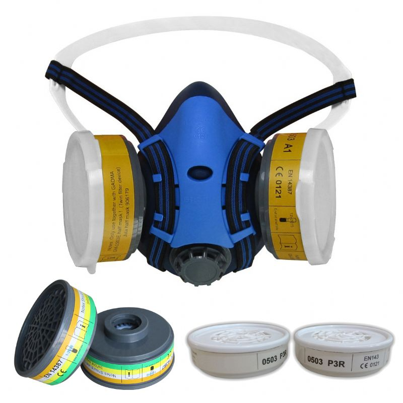 HALF MASK RESPIRATOR & CHEMICAL CARTRIDGE