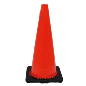 TRAFFIC CONE WITH BLACK BASE