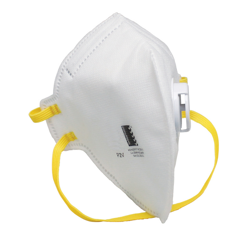 AS/NZS 1716:2012 FFP2 Nr Vertical Fold Disposable Particulate Respirator With Exhalation Valve