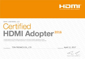 HDMI Adopter Certification 2016