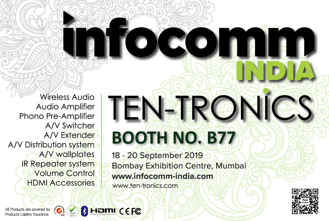 Infocomm India 18 - 20 September 2019 Booth B77