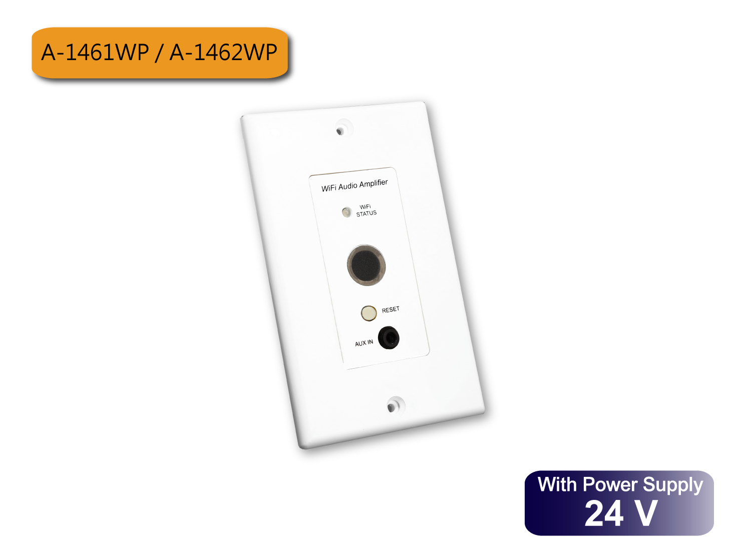 In-Wall 25W / 45W WiFi Audio Amplifier