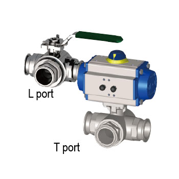 3-Way Sanitary Ball Valve