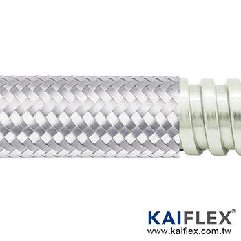 Braided Flexible Metal Conduit, Square-lock SUS, Stainless Steel Braiding