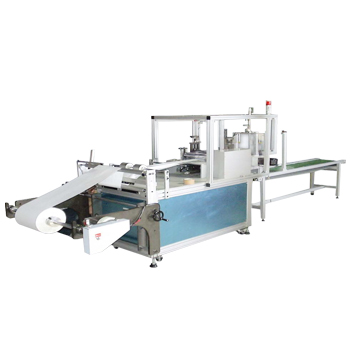 Nonwoven fabric fold and cut machine