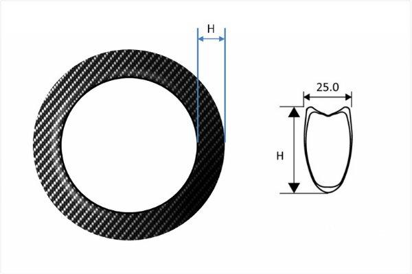 Carbon Fiber Rims - Road Tubular