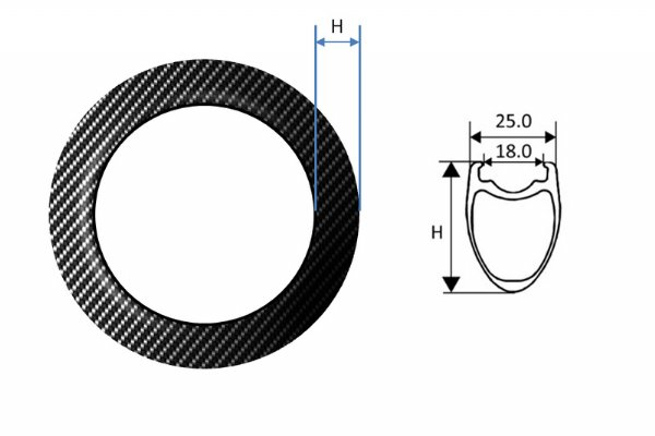 Carbon Fiber Rims - Road Tubeless