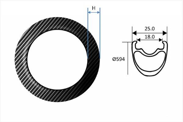 Carbon Fiber Rims - MTB