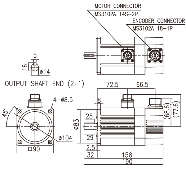 Brushless DC motors with DC drive